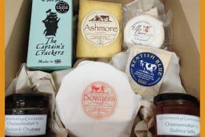 small christmas cheese box